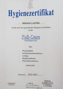 Hygienezertifikat